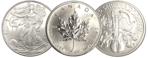 Silver Bullion Coins and Bars