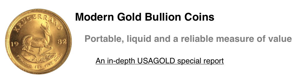 USAGOLD's in depth special report on Modern Gold Bullion Coins