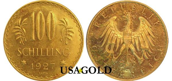 Austria 100 Schilling Gold Coin BU/Proof-like