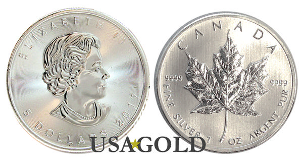 Silver Canadian Maple Leaf 1oz.