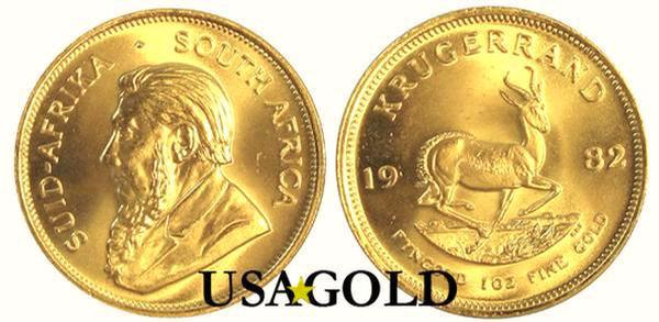 South African Gold Krugerrand 1oz.