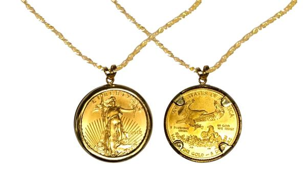 One Tenth Ounce Eagle Pendant - Year of Your Choice (1995-Present)